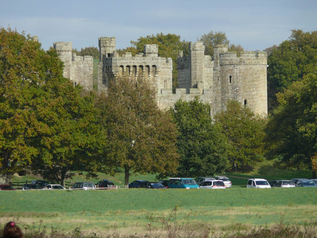 View of Bodiam Castle from Bodiam Station